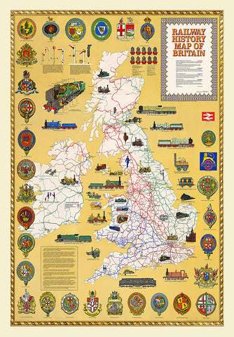 JHG 1000-piece jigsaw - Railway History Map of Britain