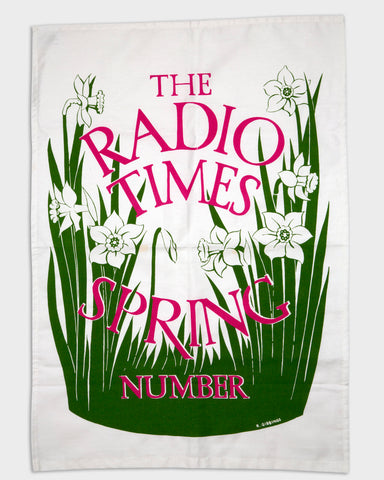 Radio Times Spring Tea Towel 1936