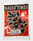 Radio Times Christmas Tea Towel 1959