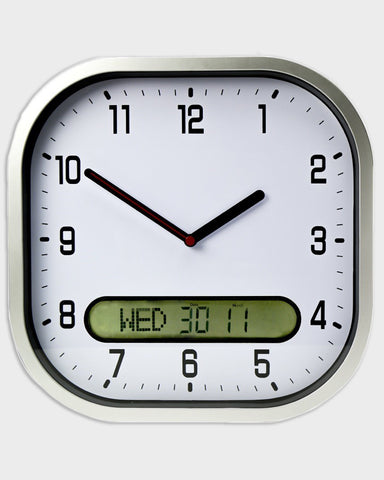 Clear Time Day-Date Wall Clock
