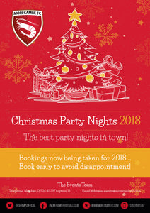 Morecambe FC Christmas Party Nights 2018