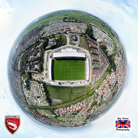 Drone Photographic Print of the Globe Arena