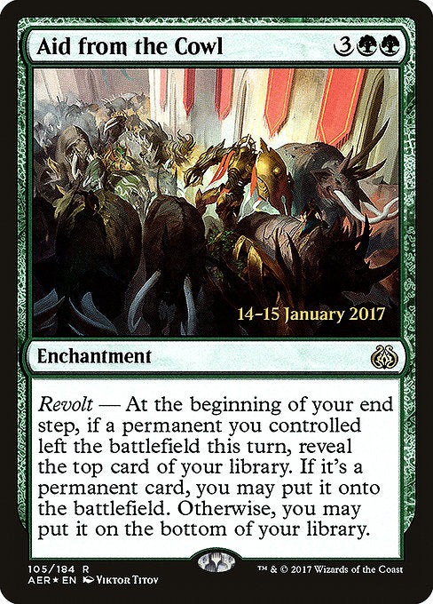 Aid from the Cowl [Aether Revolt Promos]  | My Pop Culture | New Zealand
