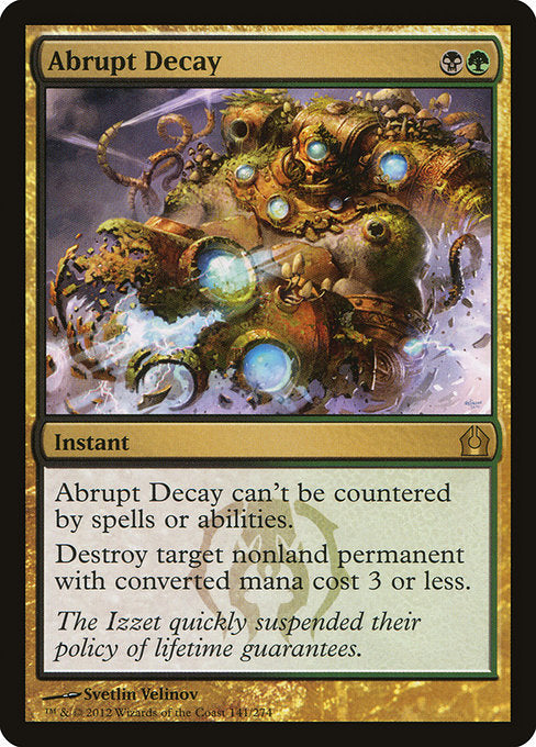 Abrupt Decay [Return to Ravnica]  | My Pop Culture | New Zealand