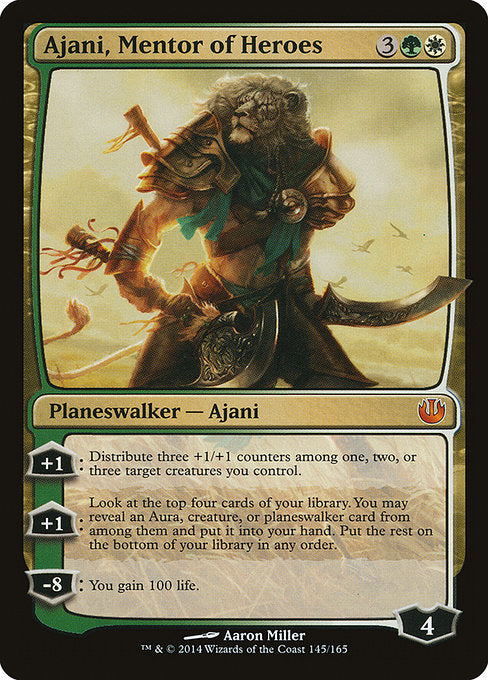 Ajani, Mentor of Heroes [Journey into Nyx] | Alvar & Hurriks