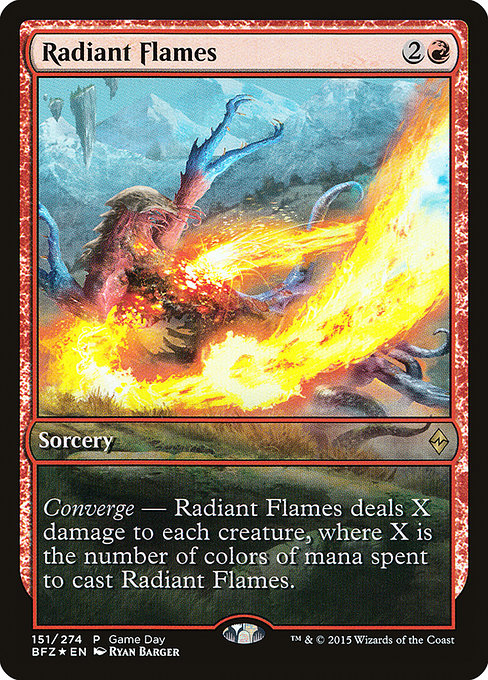 Radiant Flames [Battle for Zendikar Promos] | Alvar & Hurriks