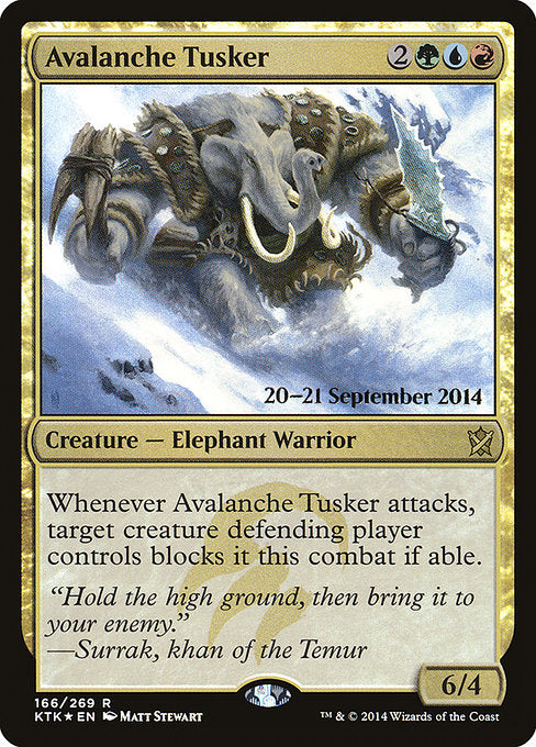 Avalanche Tusker [Khans of Tarkir Promos]  | My Pop Culture | New Zealand