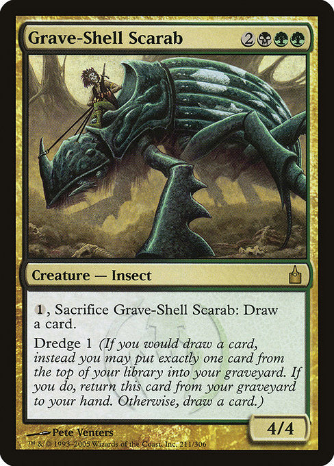 Grave-Shell Scarab [Ravnica: City of Guilds] | Alvar & Hurriks