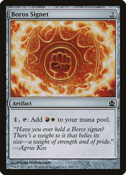 Boros Signet [Commander 2011]  | My Pop Culture | New Zealand