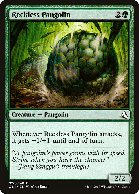 Reckless Pangolin [Global Series Jiang Yanggu & Mu Yanling] | Cascade Games | New Zealand