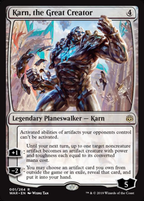 Karn, the Great Creator [War of the Spark] | Alvar & Hurriks