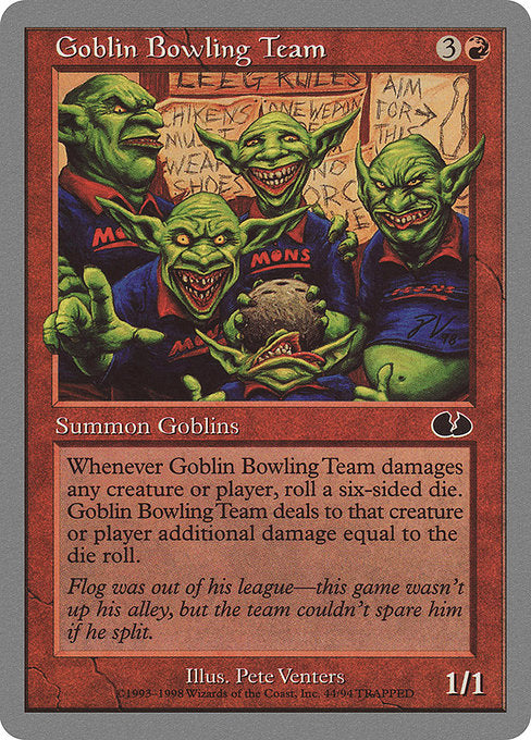 Goblin Bowling Team [Unglued]  | My Pop Culture | New Zealand
