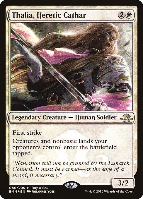 Thalia, Heretic Cathar [Eldritch Moon Promos] | Alvar & Hurriks