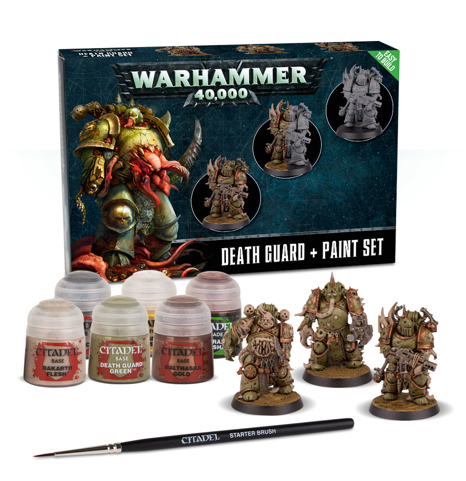 Warhammer 40,000: Death Guard + Paint Set | Alvar & Hurriks