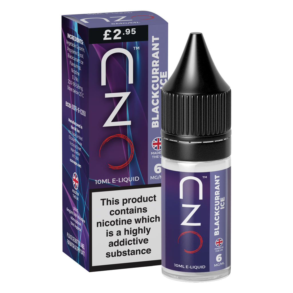nzo - Blackcurrant Ice 50/50 10ml
