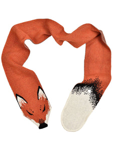 Womens Recycled Cotton Sweater Knit Fashion Scarf-Fox Orange