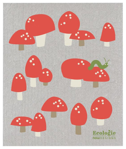 Totally Toadstools Ecologie Swedish Dishcloth
