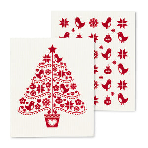 Nordic Tree Dishcloth - set of 2