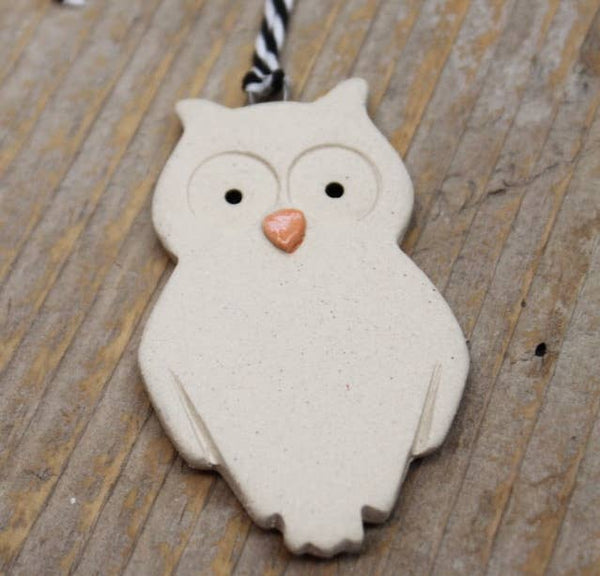 Tasha McKelvey - Handmade Owl Holiday Ornament