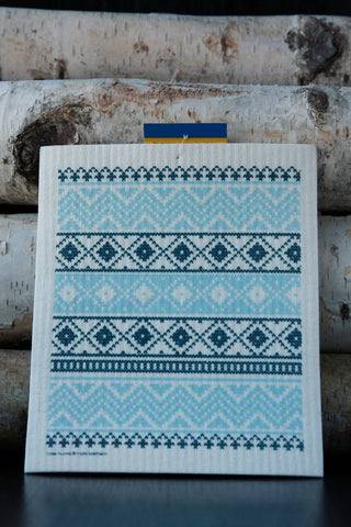Swedish Knit Dishcloth - Blue