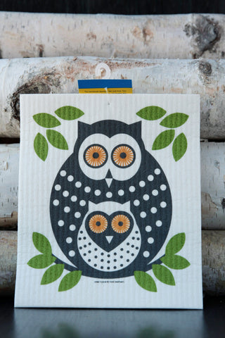 Owls Dishcloth