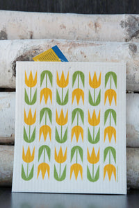 Yellow Tulips Dishcloth