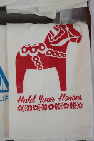 Hold Your Horses Tea Towel