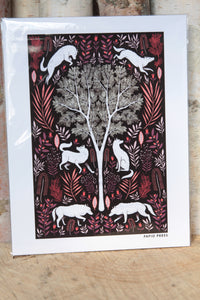 Papio Press Folk Wolves Print