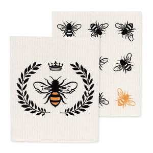 Bee Dishcloth - set of 2