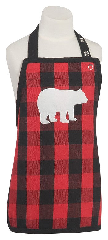 Buffalo Check Bear Children's Apron