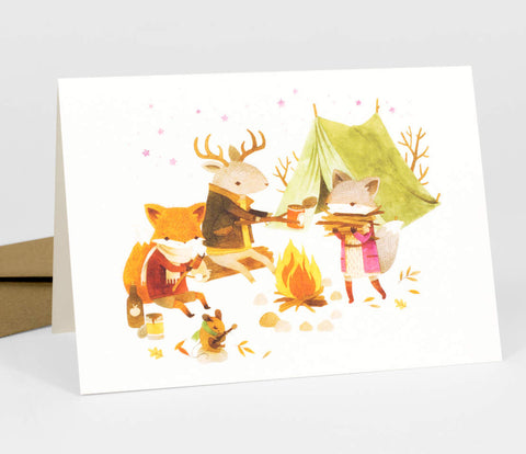 Campfire Critters Card