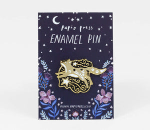Papio Press Celestial Fox Enamel Pin