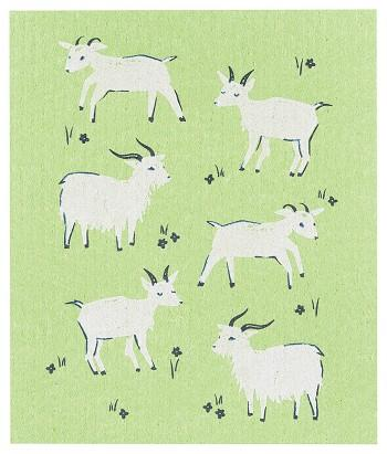 Swedish Goats Dishcloth