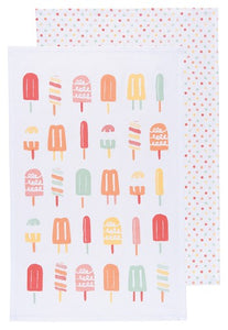Pop-Pop-Popsicles! set of 2 Tea Towels