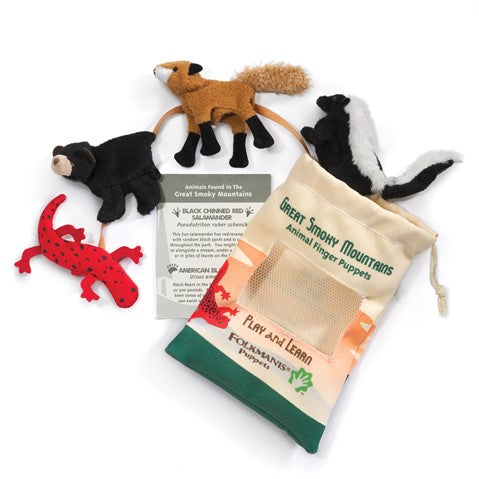 Great Smoky Mountain finger puppet set