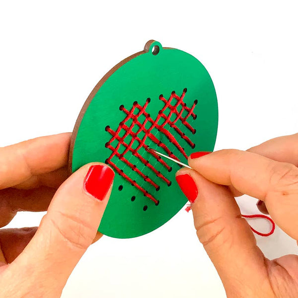Snow Made Stitch-It-Yourself Ornaments