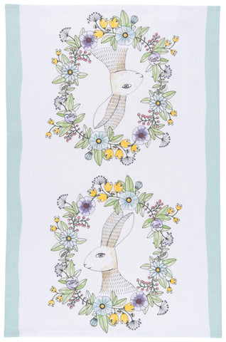 Spring Hop tea towel