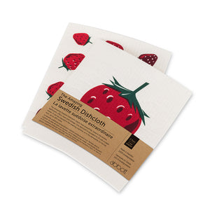 Strawberry Dishcloth - set of 2
