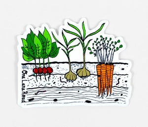 Veggie Garden Sticker - One Lane Road
