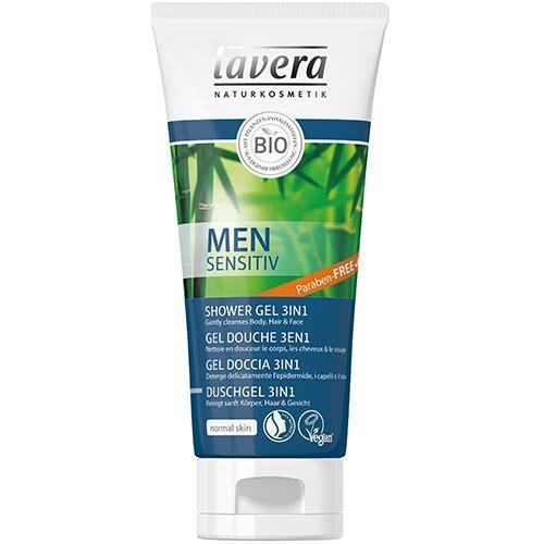 Atgaivinanti dušo želė, MEN SENSITIVE  3in1, Lavera, 200 ml - Biosala.lt