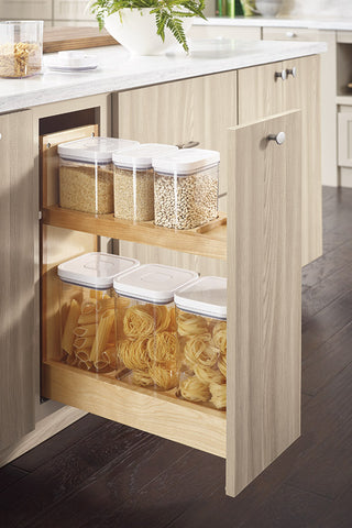 base pull out with OXO container storage