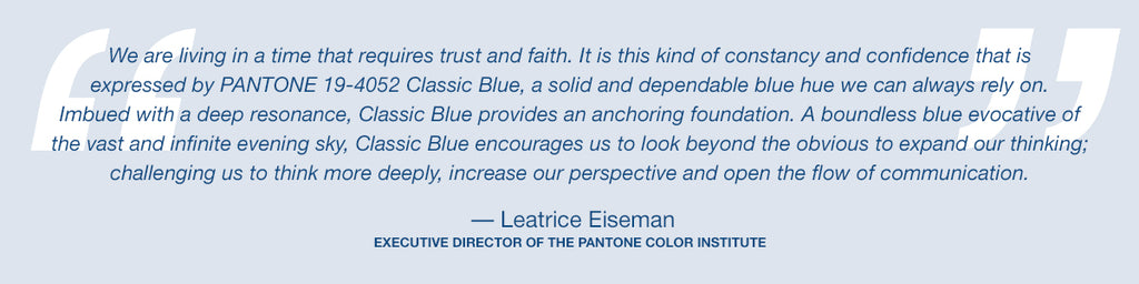 Patone Color of the Year 2020 quote from Executive Director
