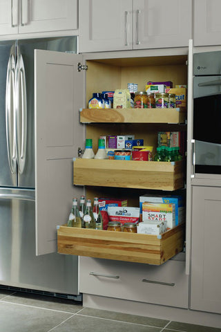 pantry with deep roll outs