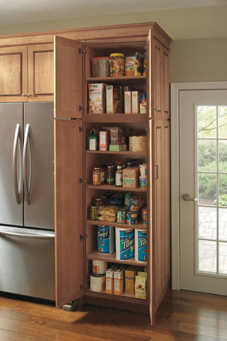 pantry cabinet with fixed shelves