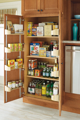 pantry with door storage