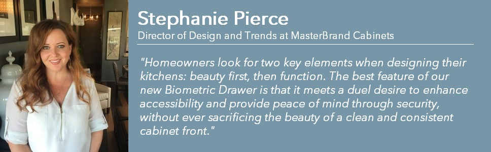 Stephanie Pierce of MasterBrand Cabinets talks about Biometric Secure Drawers