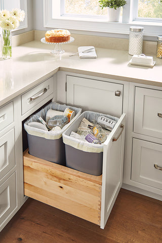 Double Pull Out Trash Cabinet