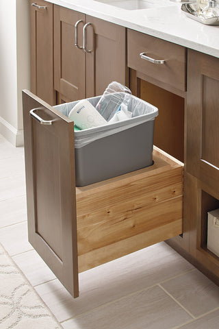 vanity pull out trash cabinet