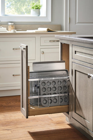 pull out tray divider in kitchen