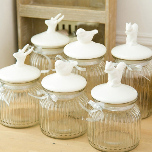 Animal Glass Jars